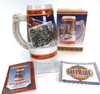 Vintage 1999 Budweiser 20th Anniversary Holiday Stein A Century of Tradition NEW