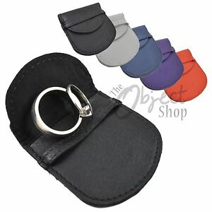Mala Leather Jewellery Case Small Pouch Gift Ring Earring Bag - Lots of Colours