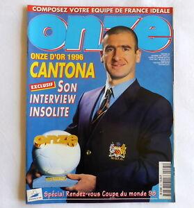 ONZE magazine CANTONA MANCHESTER UNITED with ZIDANE poster 1996