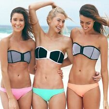 Costume Da Bagno Aperto Bikini Zip Lacci Vita Bassa sling Swimwear Swimsuit L