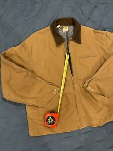 Carhartt Men's Quilt Lined Duck Traditional Jacket Brown Size 50 L NEW USA MADE