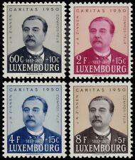 ✔️ LUXEMBOURG 1950 - CARITAS COMPOSER ZINNEN - SC. B162/B165 ** MNH [LX468]