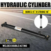 "Hydraulic Cylinder 2.5"" Bore 18"" Stroke Double Acting Top Cross Tube Welded"