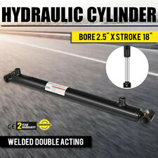 """Hydraulic Cylinder 2.5"""" Bore 18"""" Stroke Double Acting Top Cross Tube Welded"""