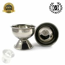 Polished High Grade Stainless Steel Classic Shaving Cup Mug for Men's Shave