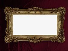 Espejo de Pared Barroco en dorado 96x57 CON ANTIGUO ORNAMENTACIONES salonspiegel