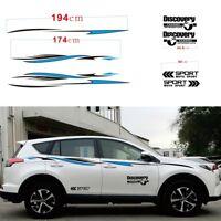 Car Body Side Sports Racing Stripes Stream-line Fashion Decal Vinly Stickers DIY