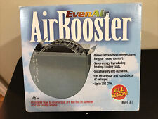 Even Air Ab-1 Air Booster for Square and Round Duct Up To 305 Cfm Field Controls