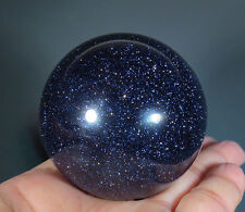 50 mm Blue GOLDSTONE SAND CRYSTAL SPHERE BALL Flash *5772
