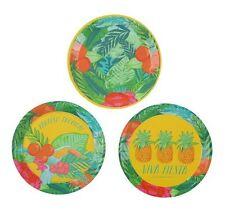 12 x tropical fiesta mini canape assiettes hawaïen tropical party free p&p