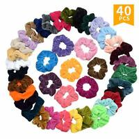 EAONE 45 Colors Hair Scrunchies Velvet Elastic Hair Ties Scrunchy Hair Bands
