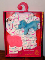 """American Our Generation LOVE PINK Counting Puppies Pajamas Clothes 18"""" Doll Girl"""