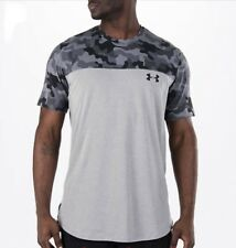 UNDER ARMOUR MEN'S TACTICAL COMBAT TEE SHIRT GREY CAMOUFLAGE FITTED UA T-SHIRT