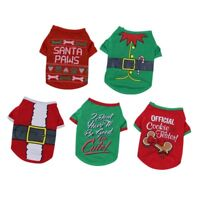 Pet Dog Christmas Clothes T Shirt Coat Puppy Cat Dog Santa Costume Xmas XS/S/M/L