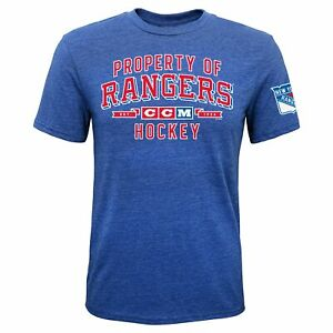 CCM NHL Youth (8-20) New York Rangers Property Block Short Sleeve T-Shirt
