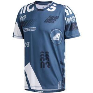 Adidas Mens FreeLift Daily Print Wicking T-Shirt DZ7393 RRP £40.00