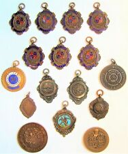 Collection of 16 1940's & 1950's Kendal Cumbria Area Swimming Medals to one man.