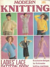 Modern Knitting Ladies Lace Pattern Book 6 Designs Exclusive to Knitmaster 1980