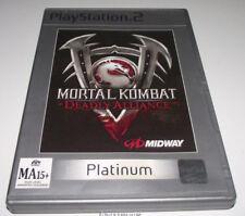 Mortal Kombat Deadly Alliance PS2 (Platimun) PAL *Complete*