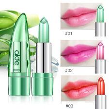 Organic Aloe Vera Jelly Lipstick Change Color Temperature Moistourizing Lip Gift