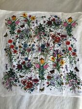 Vintage Gucci Scarf Floral V. Accornero 26 X 26