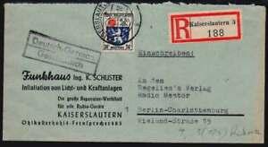 F. Zone Einschreiben-Brief KAISERSLAUTERN 14.6.46 n. BERLIN (41219)