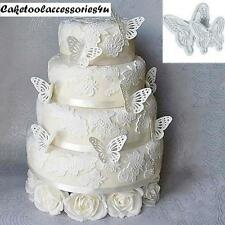 2 New Butterfly Cake Fondant Decorating Sugarcraft Cookie Plunger Cutters Mould