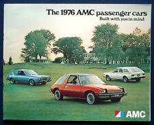 Prospekt brochure 1976 AMC Programm Pacer * Gremlin * Hornet * Matador (USA)