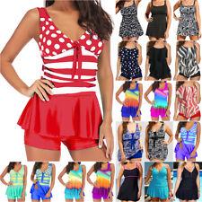 Women Tankini Swimsuit Swimdress Bikini Swimwear Swimming Costumes Plus Size