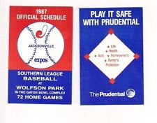 25 - 1987 Jacksonville Expos Minor League Baseball Schedules Montreal Curr. Suns