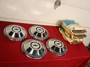 67 CHEVROLET BELAIR BISCAYNE IMPALA  COPO 427 NOS PROVERTY DOG DISH HUBCAPS