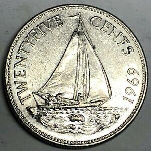 # C4788     BAHAMAS     COIN,     25  CENTS   1969