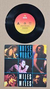 "NOISEWORKS - MILES & MILES - 7"" 45 VINYL RECORD w PICT SLV - 1990"