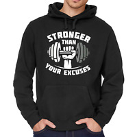Stronger than your Excuses Gym Crossfit Bodybuilding Kapuzenpullover Hoodie