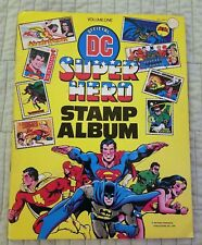 OFFICIAL DC SUPER HERO STAMP ALBUM, SIGNED BY NEAL ADAMS IN THREE SPOTS, 1976