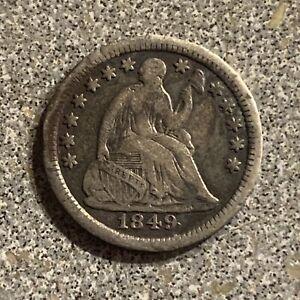 1849 Half Dime, Very Fine .  A scarce date. P380