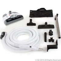 35' Central Vacuum hose Kit with Power Head Hose and Tools Designed for Electrol