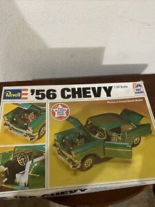 Revell 1956 Chevy 1:25 Scale Model Kit Box Damage W/O Building Instructions