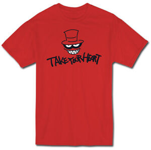 **Legit** Persona 5 Anime Take Your Heart Hat Logo Authentic Red T-Shirt #21189