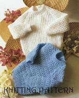 """20/"""" 18/"""" Knitting Pattern-Pretty six pièces Landau SET En 4-PLY fil Tailles 16/"""" 22/"""""""