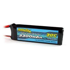 HobbyStar 3300mAh 2S 7.4V 30C LiPo Battery Deans Plug Drone Heli Quadcopter Pack