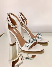 Kurt Geiger Miss KG White Embellished Block Heel Sandals Size 5 38 RRP £80 New