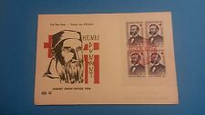 FRANCE PREMIER JOUR FDC YVERT 1188 BLOC DE 4, HENRI DUNANT 20F+8F TOULOUSE 1958