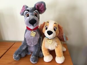NWT Disney Store Lady and Tramp Plush Lady and the Tramp Set