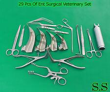 29 PCS SET OF ENT SURGICAL VETERINARY DIAGNOSTIC SURGERY INSTRUMENTS DS-933