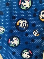 NWT Lularoe OS Disney Minnie Mickey Mouse Heads Navy Blue Polka Dot Leggings TC
