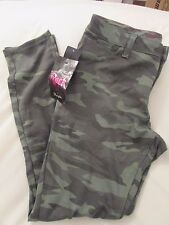 """Ladies """"Rock47"""" Size 34x31, Green Camo, Ultra Soft, Low Rise, Skinny, Knit Jeans"""