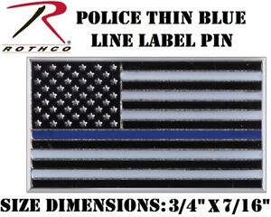 Police Lapel Pin Thin Blue Line Flag Police Law Enforcement Support Rothco 1967