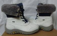 UGG ADIRONDACK II White Blue Waterproof Leather Boots Size US 5 NEW #1013505