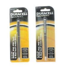 Stylus & Pen for iPhone iPad Screen Device Lot of 2 Duracell